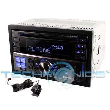 Alpine CDE W235BT In Dash Double DIN CD MP3 USB Car Stereo