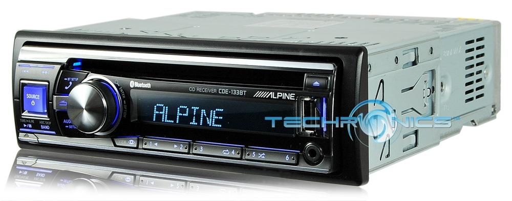 new alpine cde 133bt car in dash stereo radio cd mp3 ipod. Black Bedroom Furniture Sets. Home Design Ideas