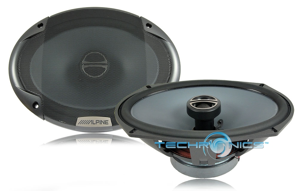 "ALPINE SPE6090 600W MAX 6"" X 9"" TYPE-E COAXIAL 2-WAY CAR STEREO PANEL SPEAKERS"