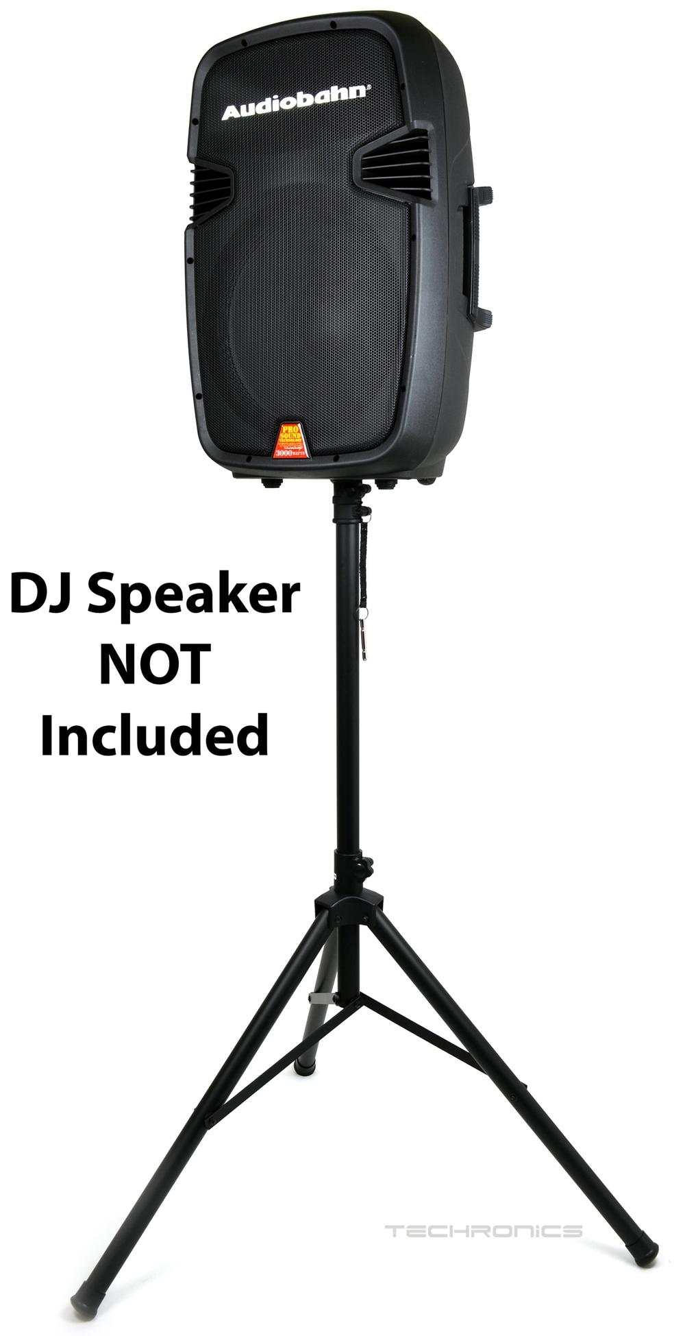 audiobahn universal durable heavy duty tripod for dj speaker equipment stand ebay. Black Bedroom Furniture Sets. Home Design Ideas