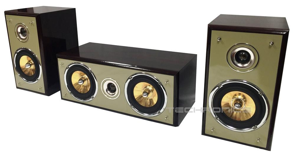 New 3 Piece Wood Cabinet Design Surround Sound Home