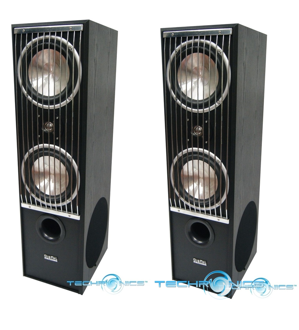Pair Hi End 700w Wood Cabinet Home Theater Tower Floor