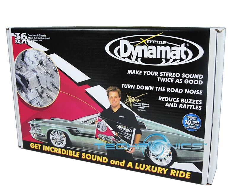 DYNAMAT 10455 BULK XTREME KIT NOISE REDUCER 36 SQ.FT (9 SHEETS) FOR ENTIRE CAR
