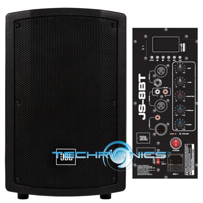 jbl js8bt harman 8 pro dj pa speaker with bluetooth led. Black Bedroom Furniture Sets. Home Design Ideas