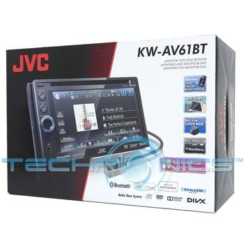 jvc kw av61bt in dash 6 1 touchscreen dvd mp3 usb car. Black Bedroom Furniture Sets. Home Design Ideas