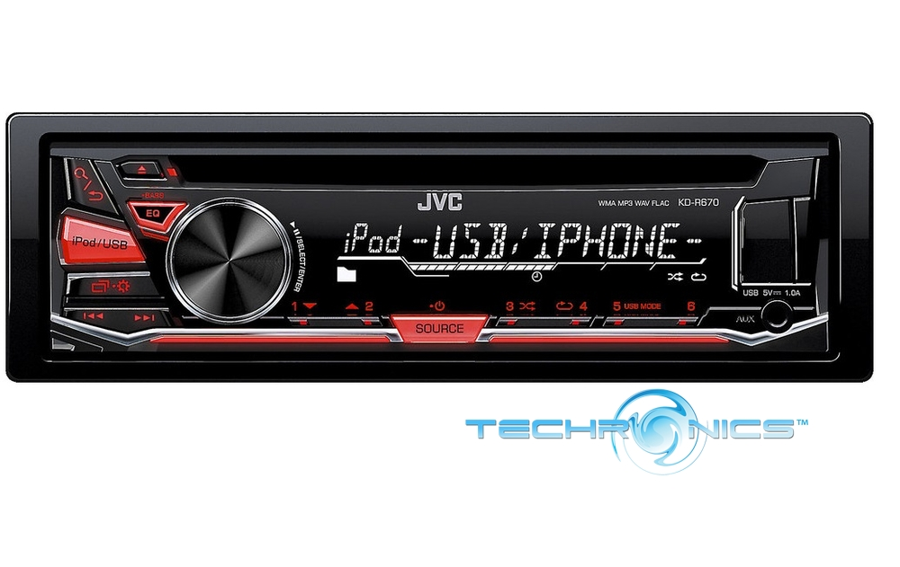 Jvc Kd R670 Cd Mp3 Wma Player Pandora Radio Android Iphone