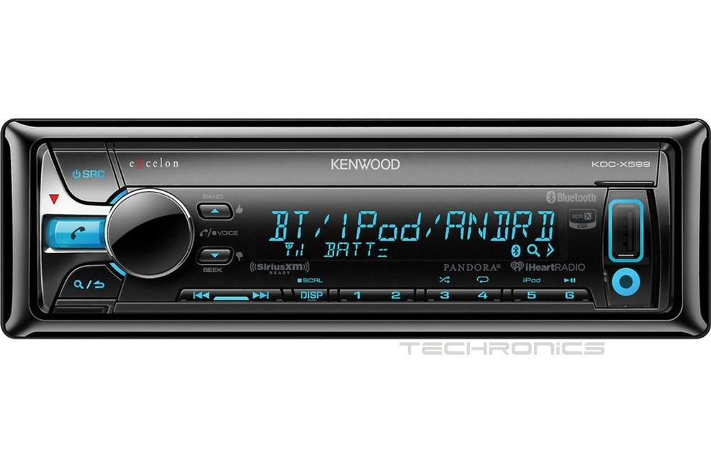 Kenwood Excelon Kdc X599 Cd Mp3 Bluetooth Usb Pandora Car