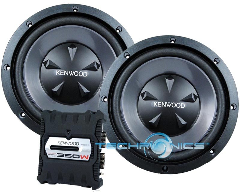"KENWOOD P-W1200 12"" 800W SUBWOOFERS AND 2 CH AMPLIFIER"