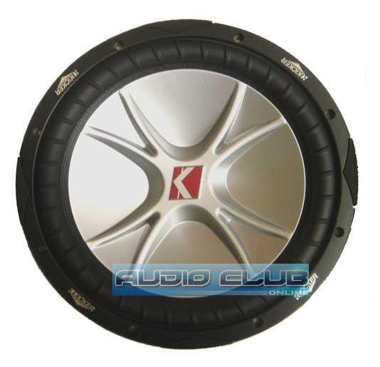 Kicker 10CVR1CompVR subwoofer with dual 4-ohm voice coils