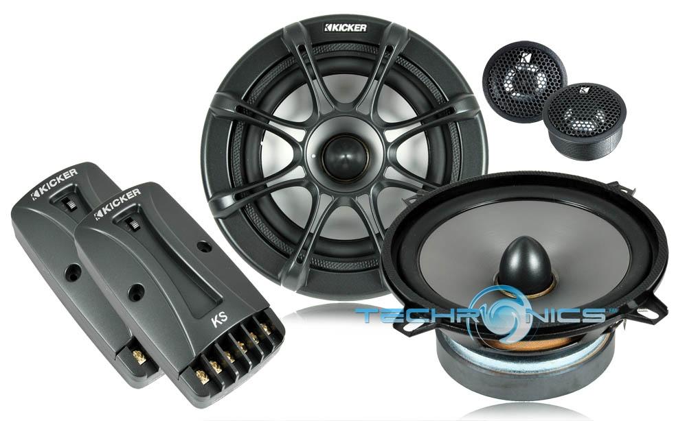 Kicker Ks Series 5 1 4 Quot 130w Rms 2 Way Component Car