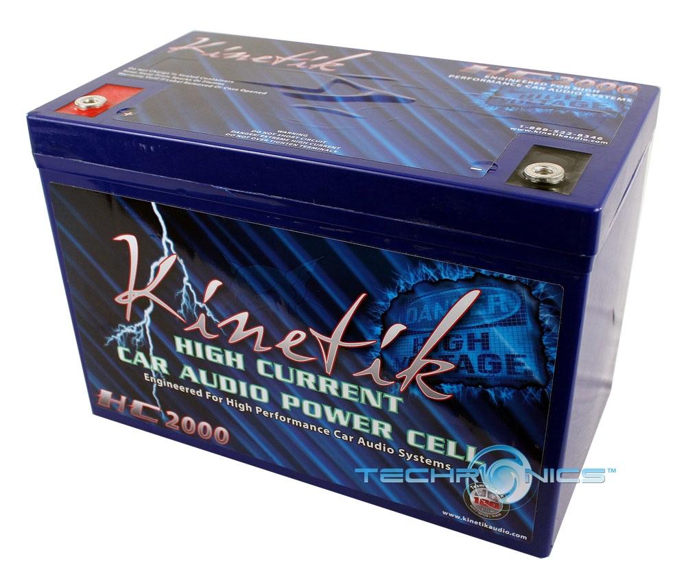 KINETIK HC2000 12V 2250 AMP HIGH CURRENT SEALED POWER CELL CAR AUDIO BATTERY