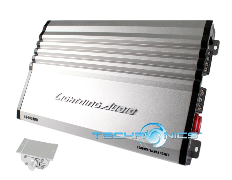 LIGHTNING AUDIO LA-2000MD +2YR WARANTY SERIES 1 CHANNEL CLASS D DIGITAL MONO AMP