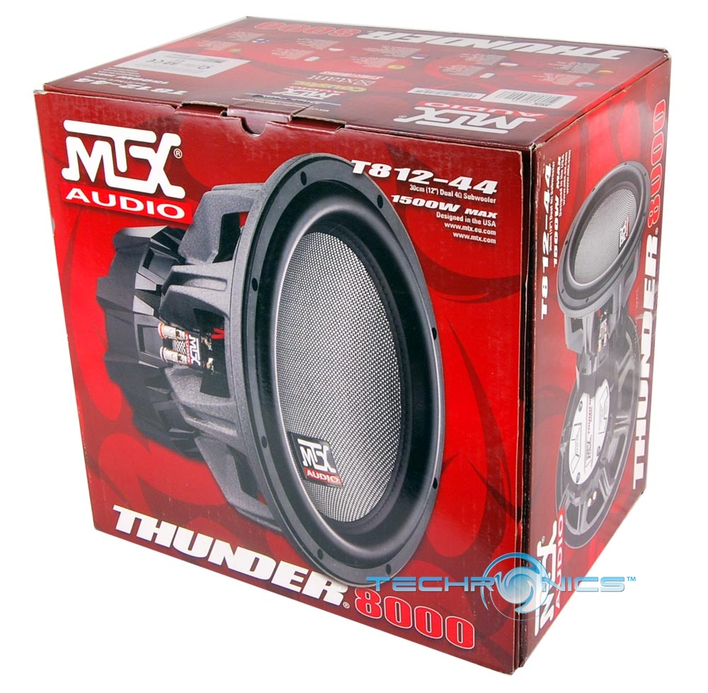 """MTX AUDIO T812-44 1500W MAX 12"""" DUAL VOICE COIL COMPONENT CAR STEREO SUB WOOFER"""