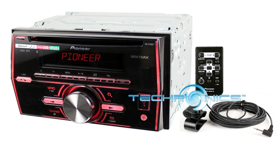 PIONEER FH-X700BT CD/MP3/USB CAR AUDIO STEREO RECEIVER W/ BLUETOOTH TECHNOLOGY