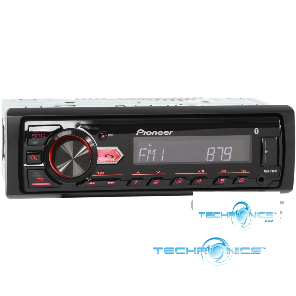 PIONEER MVH-291BT MECHLESS WITH BLUETOOTH DIGITAL MEDIA