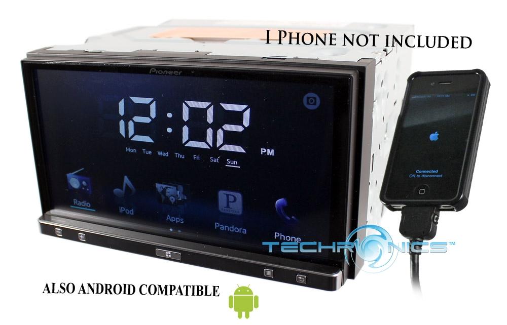 pioneer sph da100 appradio2 in dash 7 monitor smartphone. Black Bedroom Furniture Sets. Home Design Ideas