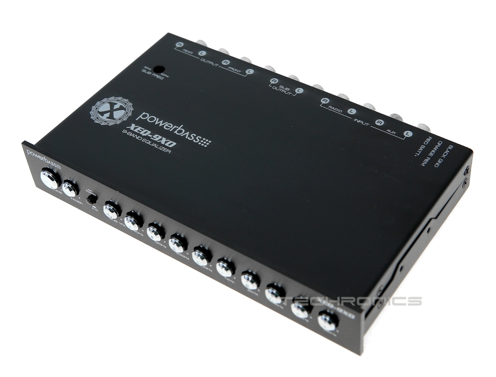 Car Audio Equalizer: POWERBASS XEQ-9XO +2YR WRNTY 9 BAND CAR AUDIO EQUALIZER