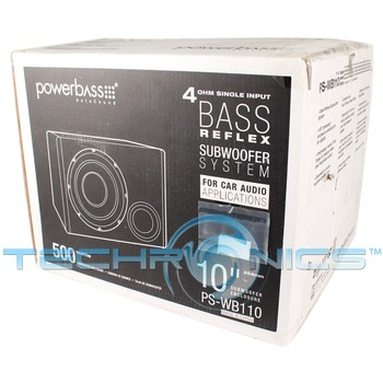Powerbass Ps Wb110 10 Quot 500w Loaded Car Audio Subwoofer