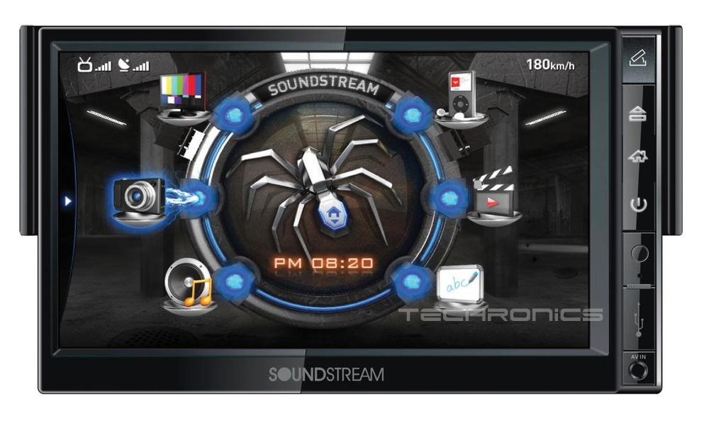 "Soundstream SNX731 7"" Single DIN Car DVD Player GPS Navigation Bluetooth Monitor"