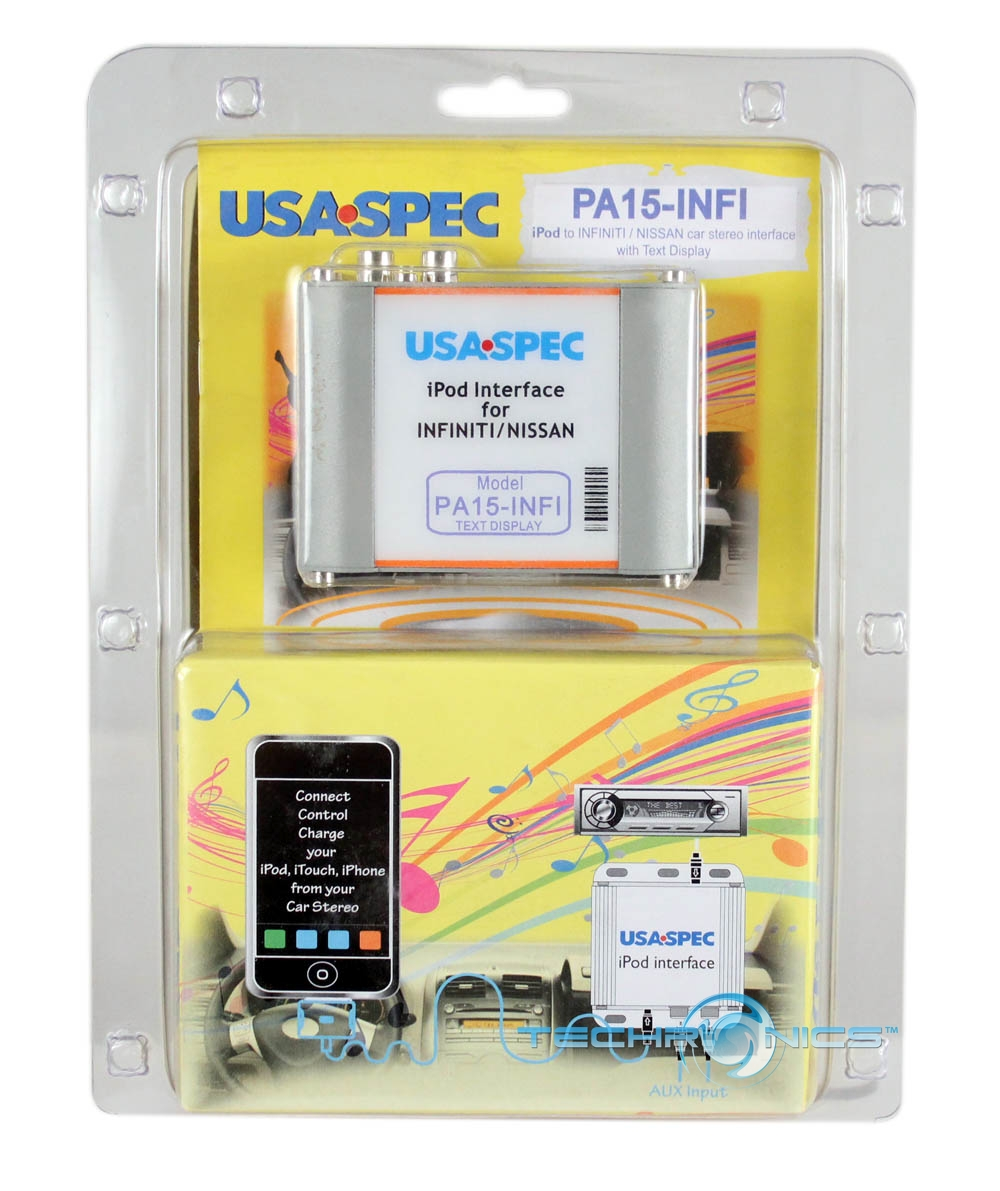 USA SPEC PA15-INFI IPOD/IPHONE INTERFACE FOR INFINITI/NISSAN FACTORY CAR STEREO