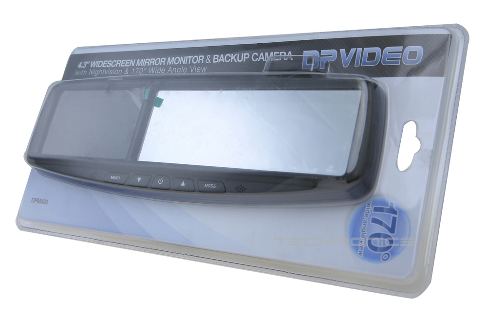 "XO Vision 4 3"" Car Rear View Mirror Monitor Night Vision Back Up Video Camera"