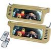 XO Vision GXS102 10.2-Inch Wide screen TFT Sunvisor Monitor-Beige