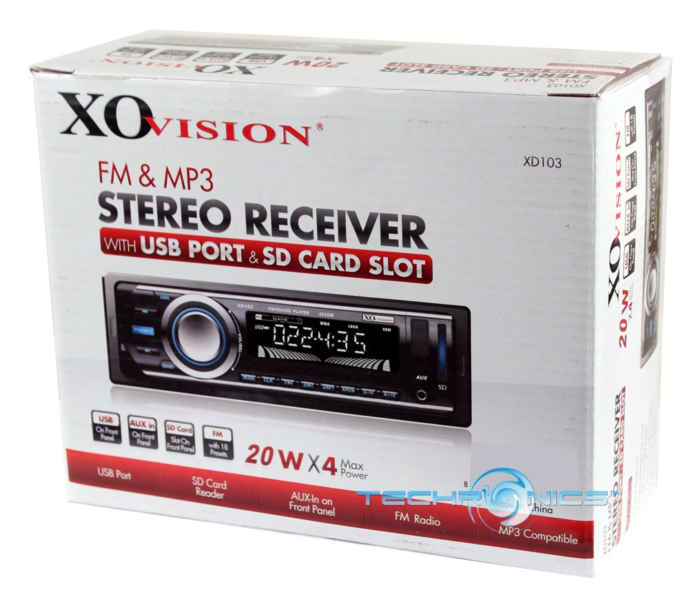TEC XO XD103 alt2 xo vision xd103 in dash car stereo digital media receiver w usb xo vision xd103 wiring harness at nearapp.co