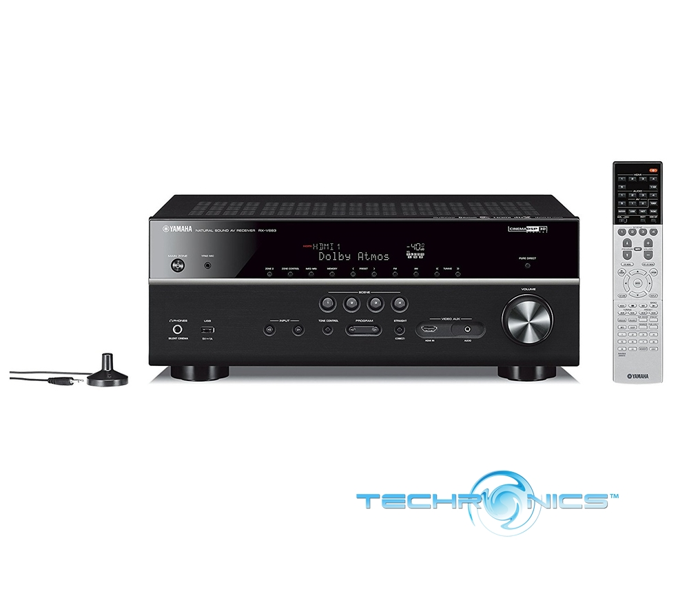 yamaha rx v683bl 7 2 channel musiccast av home receiver