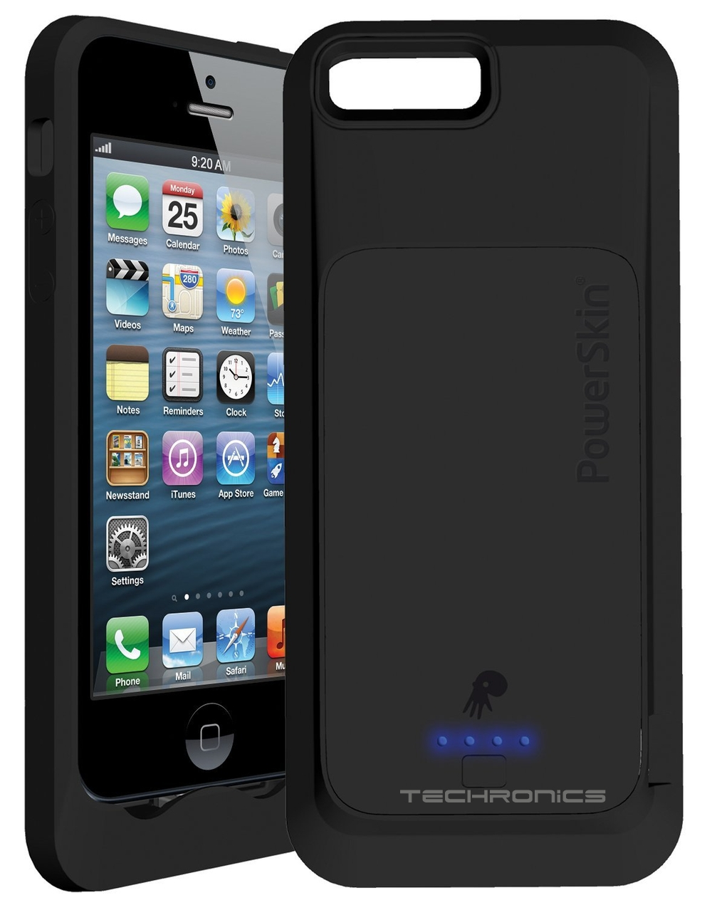 rechargeable iphone 5s case apple certified powerskin black 1500mah battery 1480